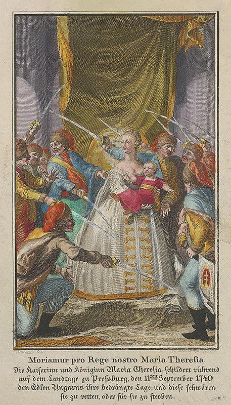 Nikolaus Moreau, Johann Ernst Mansfeld – Mária Terézia na uhorskom sneme 1741