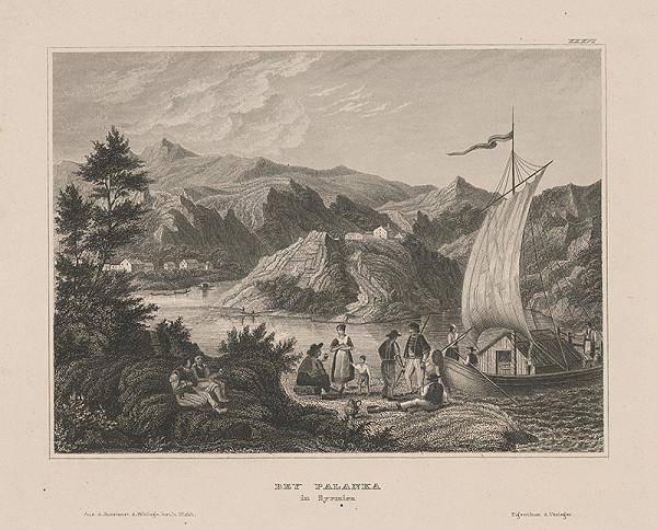 Stredoeurópsky grafik z 1. polovice 19. storočia - Pri Palanke v Syrmii