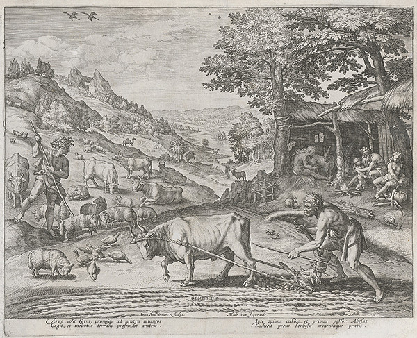 Maarten de Vos st., Jan Sadeler I. - Kain a Ábel pri práci (5)