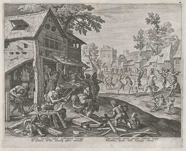 Maarten de Vos st., Jan Sadeler I. - Jubal a jeho hudobné nástroje (11)