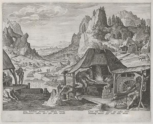 Maarten de Vos st., Jan Sadeler I. – Tubalkain vo svojej vyhni (12)