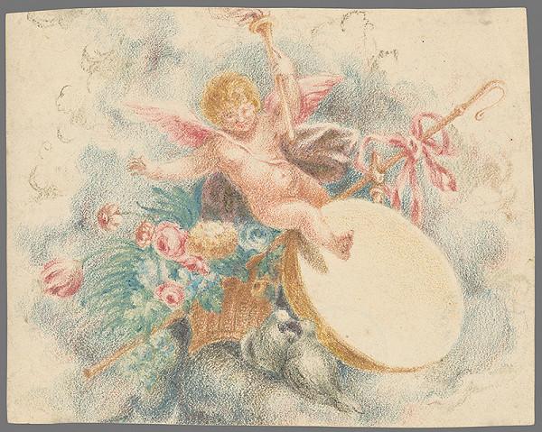 Stredoeurópsky grafik z 19. storočia - Zátišie s puttom