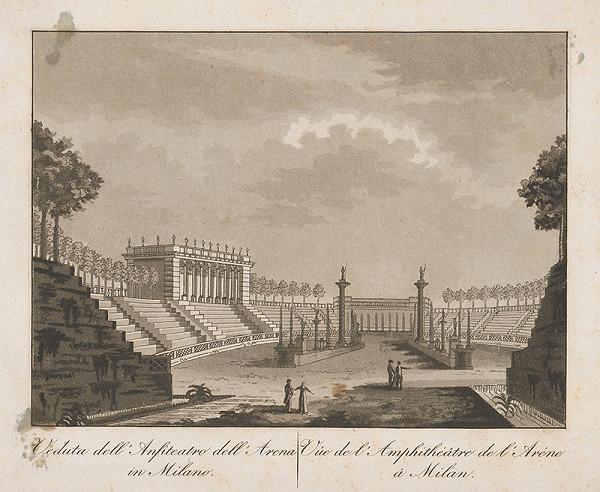 Taliansky maliar z prelomu 18. - 19. storočia – Amfiteáter a aréna v Miláne