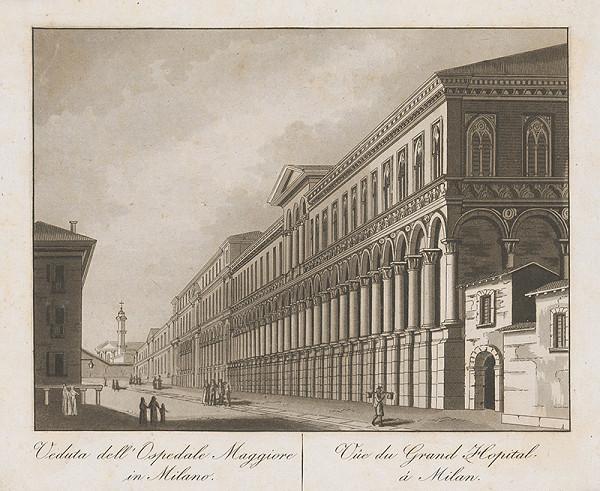 Taliansky maliar z prelomu 18. - 19. storočia – Veľká nemocnica v Miláne