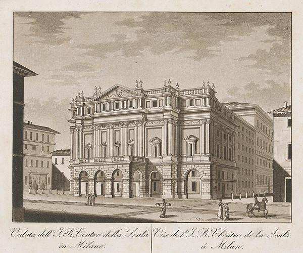 Taliansky maliar z prelomu 18. - 19. storočia – Divadlo de la Scala v Miláne