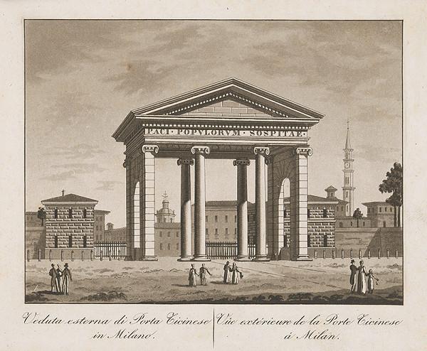 Taliansky maliar z prelomu 18. - 19. storočia – Brána Cicinese v Miláne