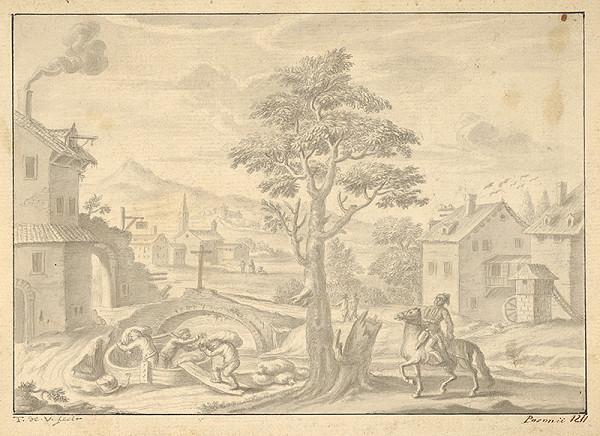 Stredoeurópsky maliar z prelomu 18. - 19. storočia - Nakladanie vriec