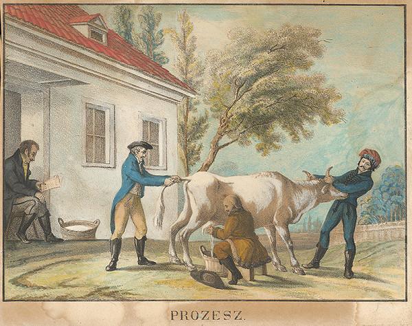 Stredoeurópsky maliar z 1. polovice 19. storočia - Dojenie kravy