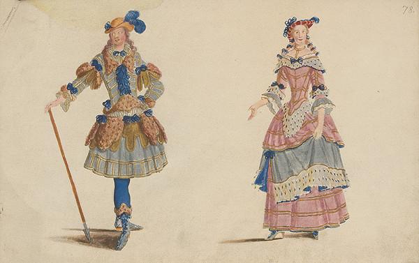 Lodovico Ottavio Burnacini, Neznámy autor – Figuríny, návrhy na divadelné kostýmy 1.