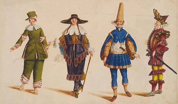 Lodovico Ottavio Burnacini, Stredoeurópsky grafik z 18. storočia – Figuríny, návrhy na divadelné kostýmy 2.