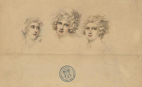 Stredoeurópsky autor z 1. polovice 19. storočia - Tri ženské hlavy