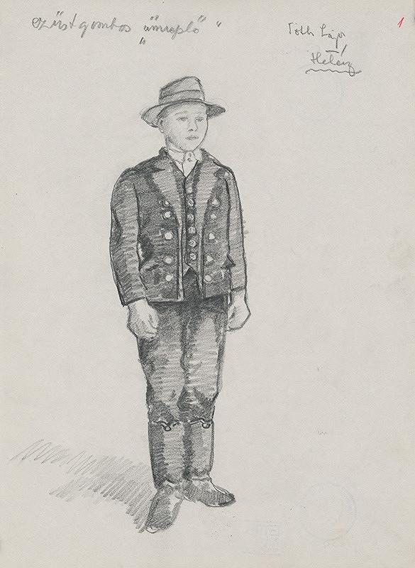 Maďarský grafik z 20. storočia – Chlapec v kroji