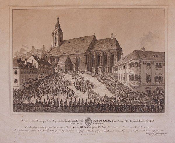 Eduard Gurk – Korunovácia Karolíny Augusty v Dóme sv.Martina v Bratislave