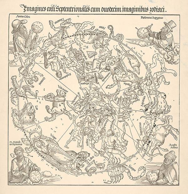 Stredoeurópsky grafik zo 16. storočia – Imaginárny nebeský zvieratník
