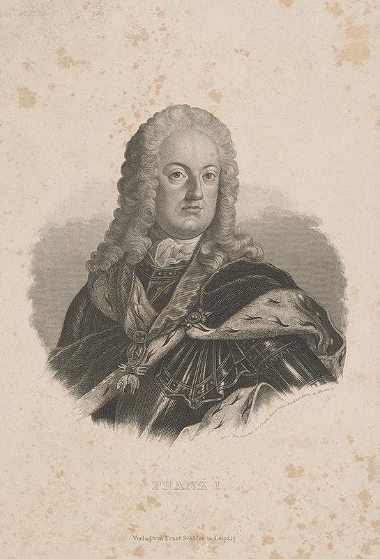 Stredoeurópsky grafik z 19. storočia - Portrét Františka I.