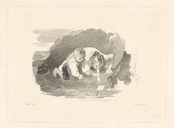 Tommaso Benedetti, Peter Fendi – Deti hrajúce sa s loďkou