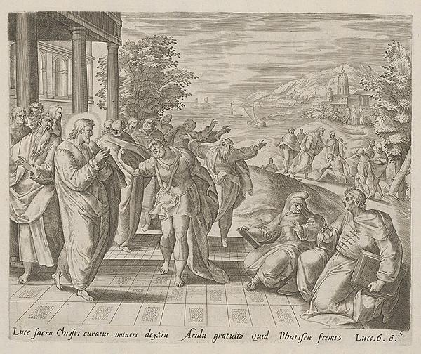 Claesz Jansz Visscher, Maerten van Heemskerck – Uzdravenie človeka s vyschnutou rukou
