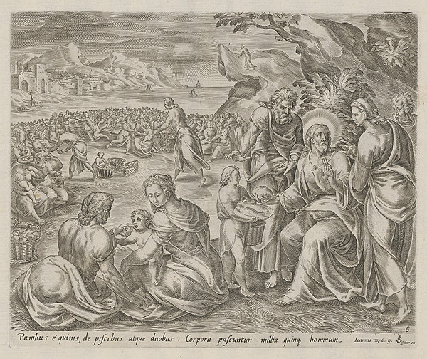 Claesz Jansz Visscher, Neznámy rytec – Rozmnoženie chlebov a rýb