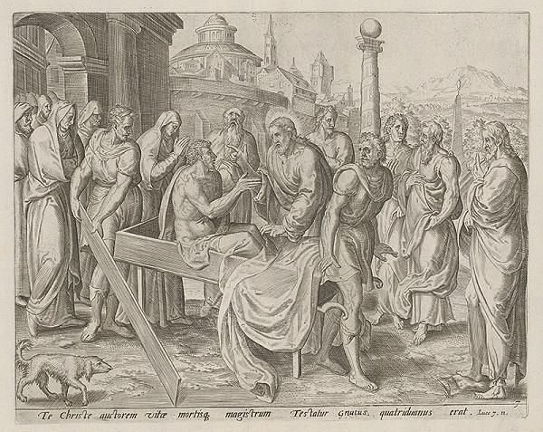 Claesz Jansz Visscher, Neznámy rytec - Vzkriesenie mŕtveho mládenca v meste Naim