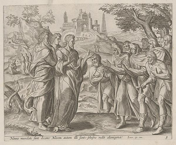 Neznámy rytec, Claes Jansz. Visscher – Ježiš stretáva desať malomocných (9)