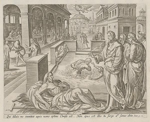 Neznámy rytec, Claes Jansz. Visscher - Ježiš uzdravuje človeka chorého 38 rokov (10)