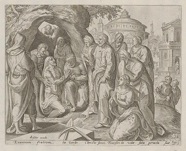 Neznámy rytec, Claesz Jansz Visscher – Vzkriesenie Lazara (12)