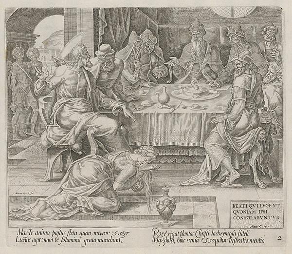 Maerten van Heemskerck, Harmen Jansz Muller - Blahoslavení žiadostiaci, lebo oni potešenia dôjdu. Kristus a žena hriešnica. (2)