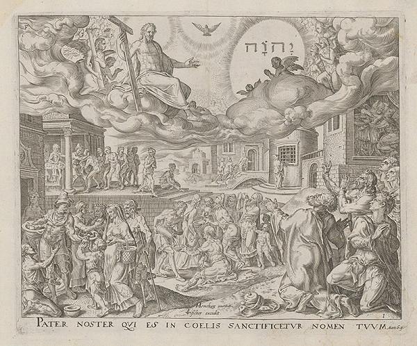 Maerten van Heemskerck, Claesz Jansz Visscher – Otče náš,ktorý si na nebesiach,posväť meno tvoje (1)