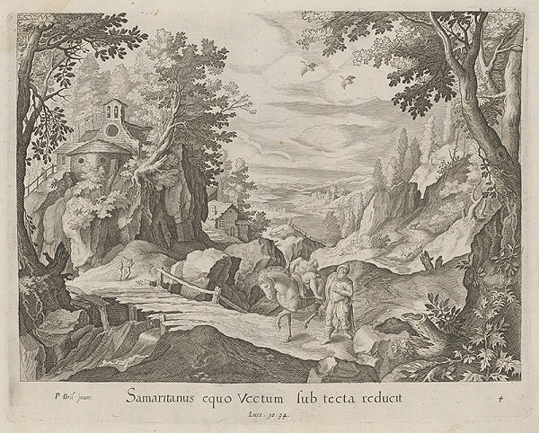Claes Jansz. Visscher – Samaritán vezie pocestného