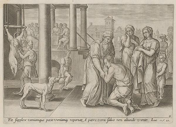 Stredoeurópsky maliar zo 17. storočia - Príbeh o stratenom synovi-návrat