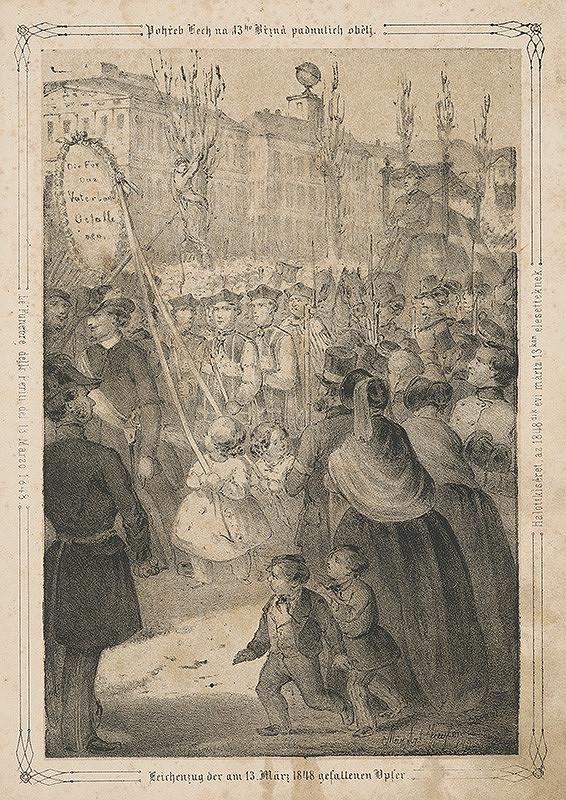 Anton Ziegler – Pohreb obetí revolúcie 1848