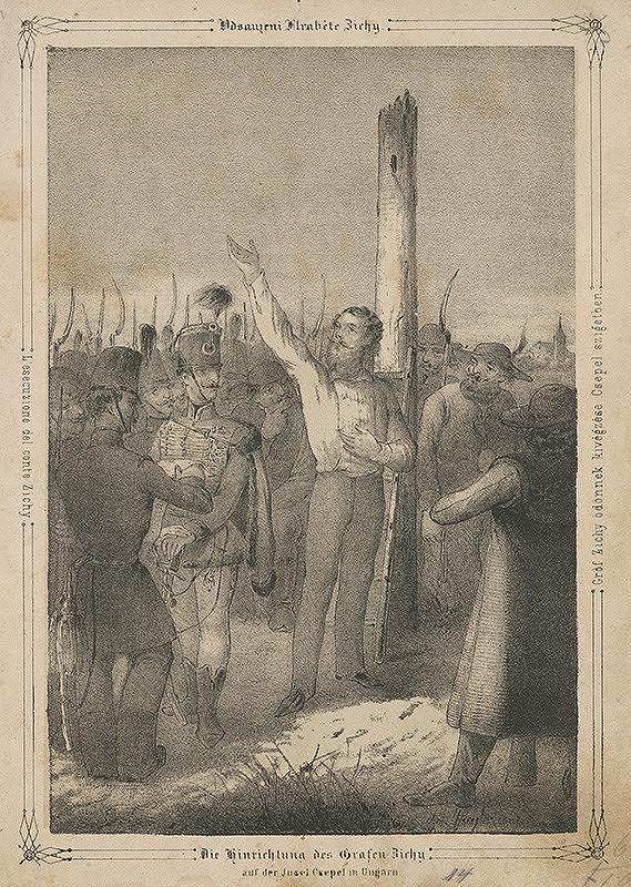 Anton Ziegler – Revolúcia 1848 - poprava grófa Zichyho