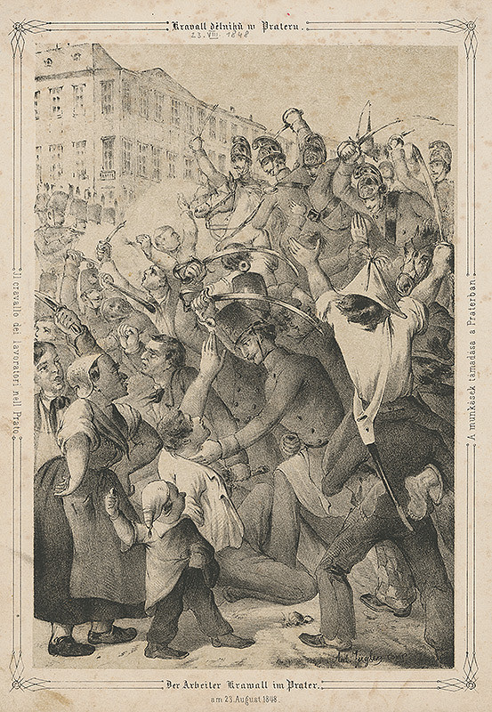 Anton Ziegler – Revolúcia vo Viedni r. 1848 V.