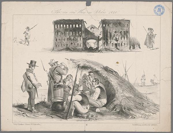 Johann Rauh, Carl Goebel – Skica z Viedne z októbra 1848