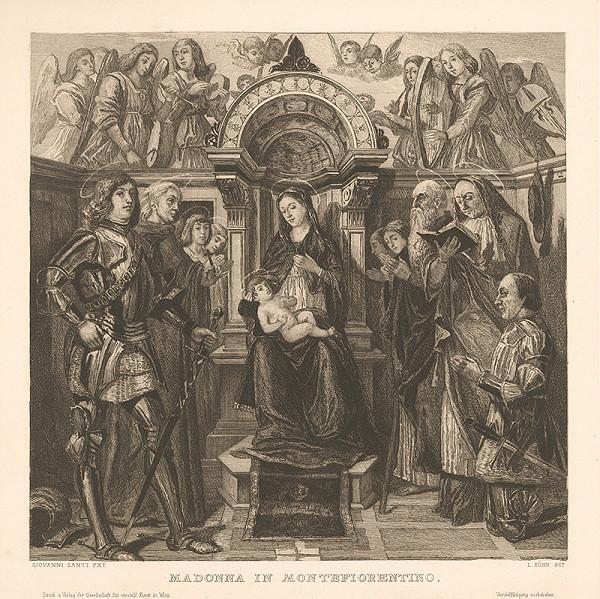 Ludwig Kühn, Giovanni Santi, Eduard Büchel - Madonna so svätcami a donátorom