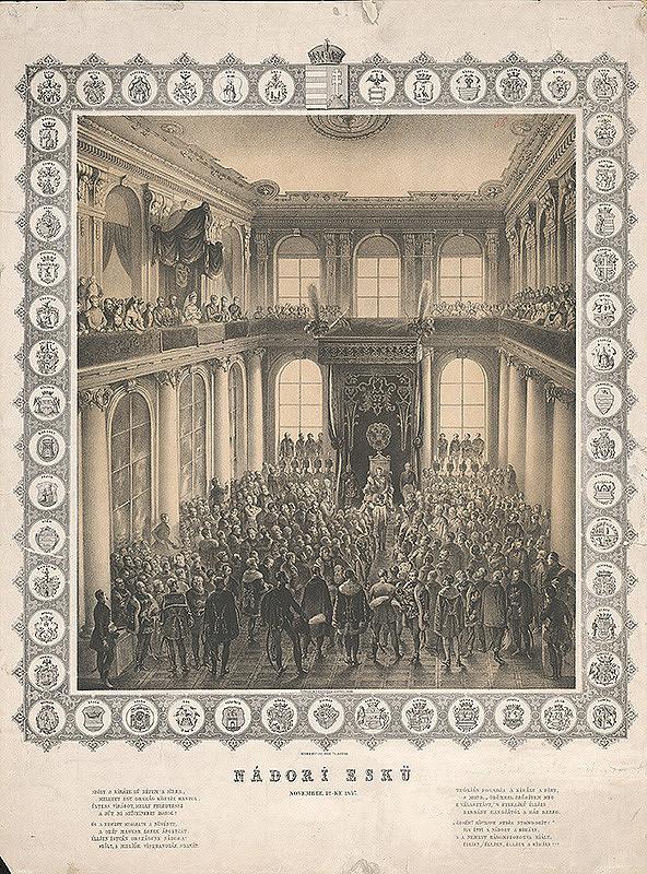 Joseph Lanzedelli ml. – Prísaha palatína v Zrkadlovej sieni Primaciálneho paláca