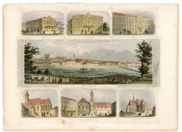 Franz Hablitschek – Pohľady na Bratislavu a jej interiér