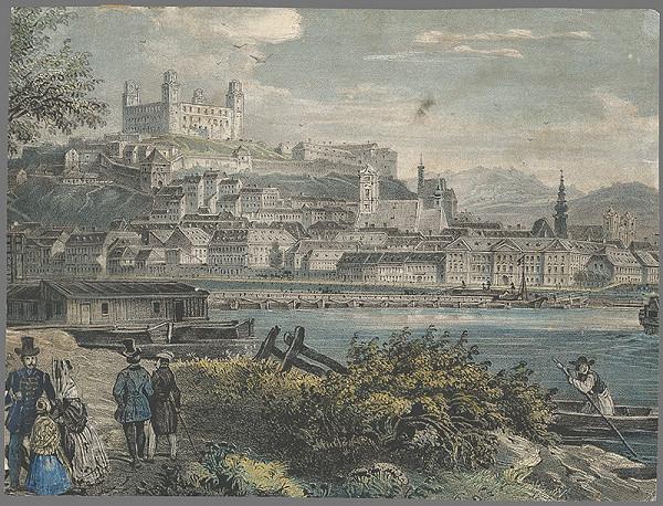 Stredoeurópsky grafik z 19. storočia - Bratislava-pohľad z juhu
