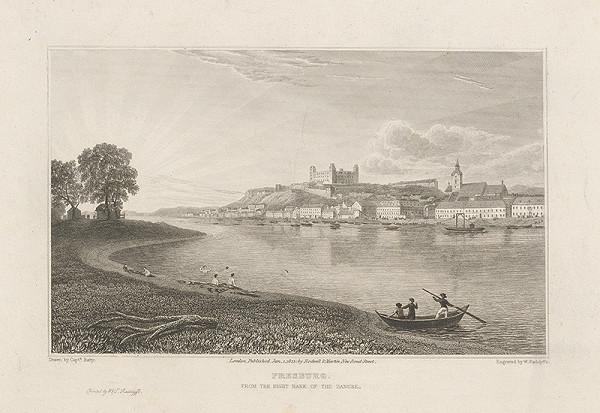 William T. Radclyffe, Robert Batty – Bratislava v 19. stor. - pohľad z juhu