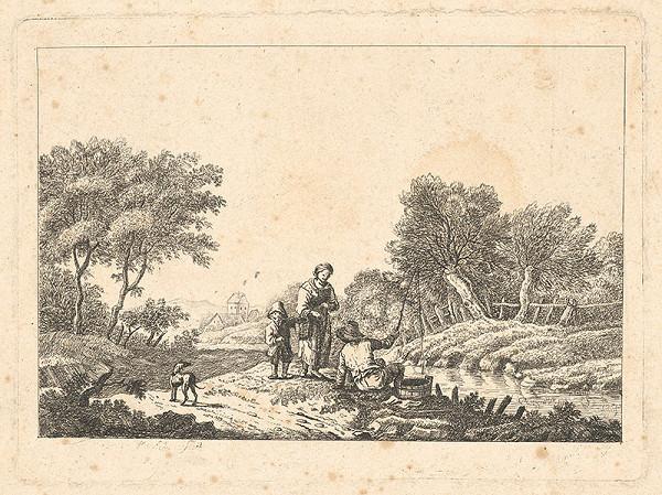 Stredoeurópsky grafik z 18. storočia – Pri potoku