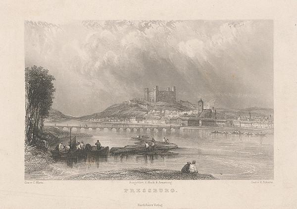 Edward Roberts, Karol Klette z Klettenhofu – Bratislava v 19. storočí - pohľad z juhu
