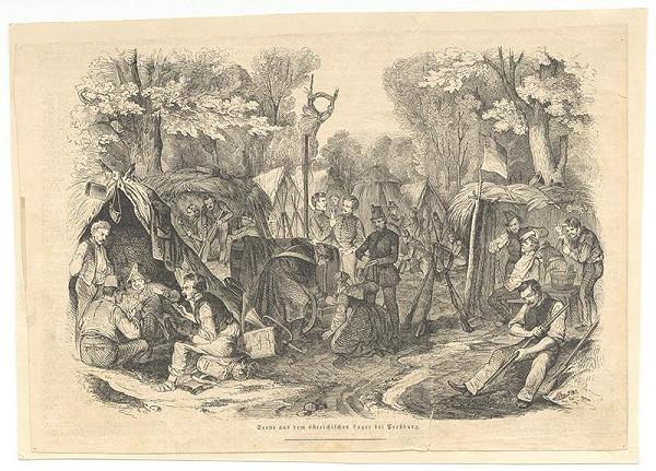 Stredoeurópsky grafik z 19. storočia - Rakúsky tábor pri Bratislave