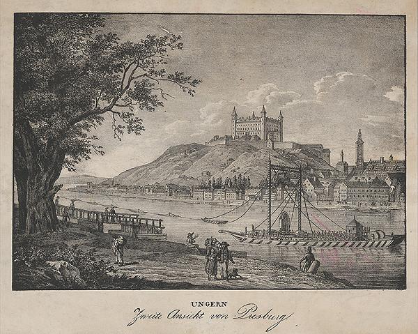 Rakúsky maliar z prelomu 18. - 19. storočia – Pohľad na Bratislavu