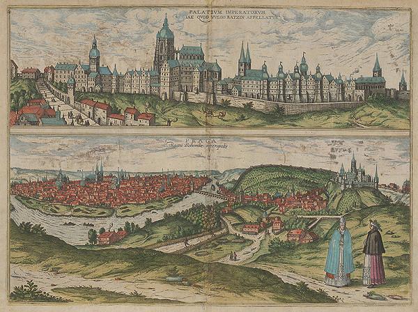 Joris Hoefnagel, Franz Hogenberg - Pražský hrad. Pohľad na Prahu (Dvojobraz)