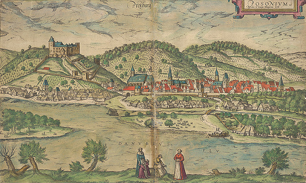 Franz Hogenberg, Joris Hoefnagel – Pohľad na Bratislavu z juhu