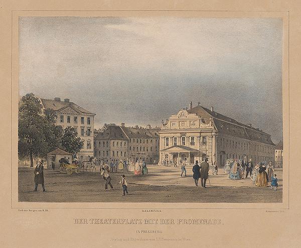Rudolf Alt, Franz Josef Sandmann – Divadelné námestie (dnes Hviezdoslavovo námestie)  v Bratislave