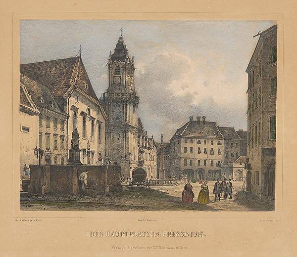 Rudolf Alt, Franz Josef Sandmann - Hlavné námestie v Bratislave