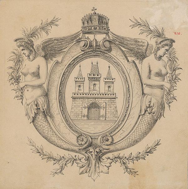 Stredoeurópsky grafik z 1. polovice 19. storočia - Erb mesta Bratislavy