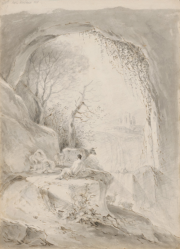 Franz Brudermann - Krajina s rodinou pastiera