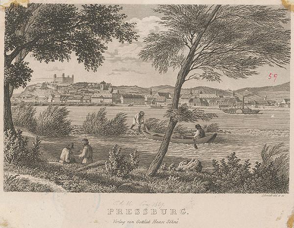 Christoph Schmidt – Bratislava v 19. storočí, pohľad z juhu